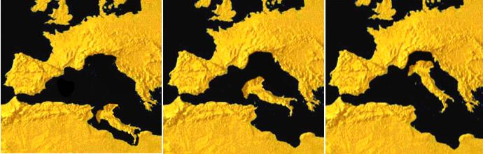 Cartina Italia Anno 500.Storia Italiana Geologica Geografica Politica 1
