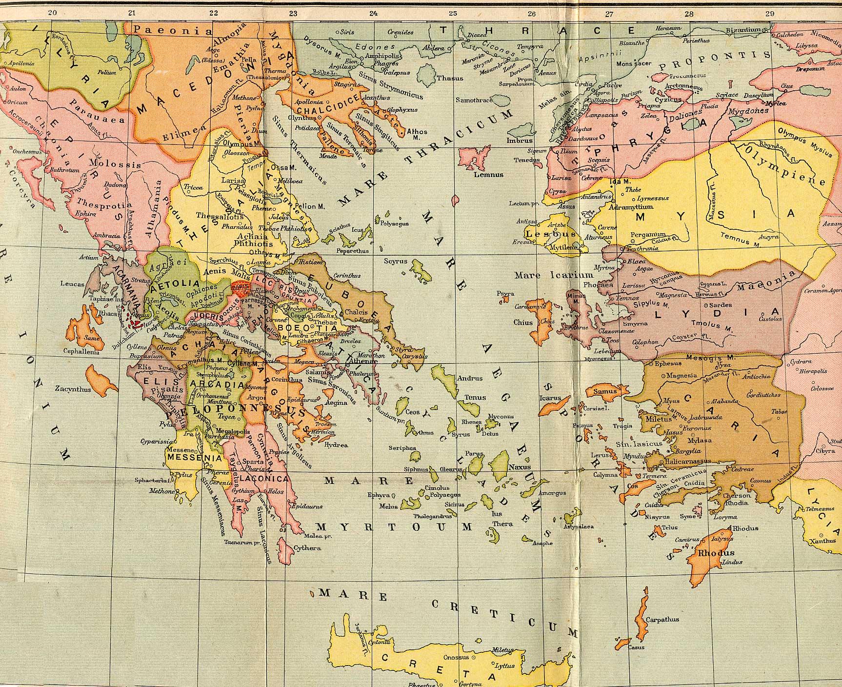 Cartina Della Grecia Politica.Grecia Antica Cartina