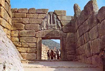 Grecia immagini di viaggio - La porta dei leoni a micene ...
