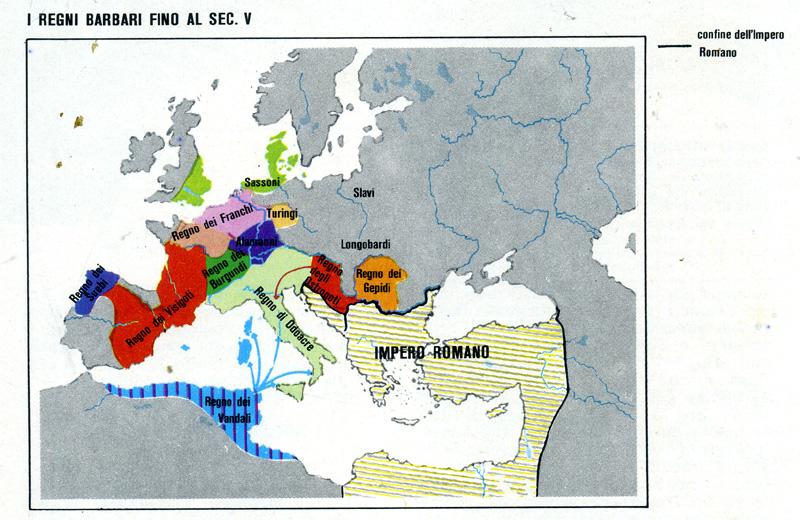 Cartina Italia Romana.Barbari Chi Erano Da Dove Venivano