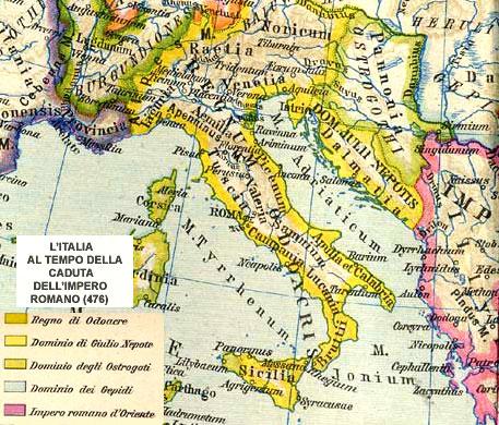 MERIDIONE D'ITALIA - DALLA CADUTA DELL'IMPERO ROMANO ALLE DOMINAZIONI  STRANIERE